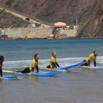 Первая тренировка на воде в Arrifana Surf School