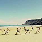 Занятие йогой в International Surf School