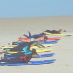 Гребля на песке в серф кемпе Surf Camp For You